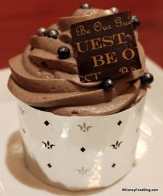 The Master's Cupcake at Be Our Guest Restaurant #DisneyFood
