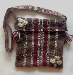 Morral corazones, handmade, loom, cross bag, sac à main