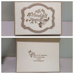 Stampin up heartfelt sympathy with gold emboss