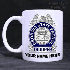 Georgia State Patrol Personalized 11oz Coffee Mugs Made in the USA. #Handmade