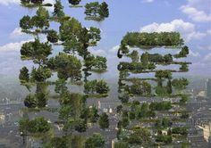 Bosco Verticale  แบบมีแต่ป่าจริง ๆ เมื่อโตเต็มที่จะได้ density ประมาณนี้