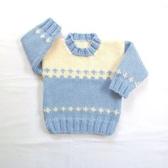 Baby sweater 6 to 12 months Knit baby jumper by LurayKnitwear