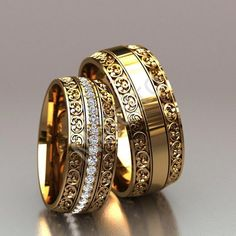 Couple Wedding Rings Gold With Price Paar Ringe Koreanischer Online-Shop; Stacked Wedding Rings, Gold Wedding Rings, Wedding Rings For Women, Wedding Bands, Engagement Rings Couple, Couple Rings, Wedding Ring Designs, Ring Set, Jewelry Rings