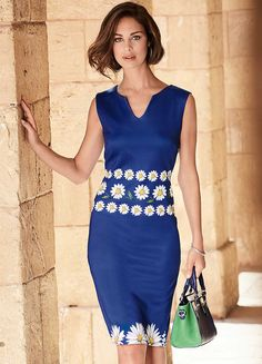 Daisy Print Scuba Dress