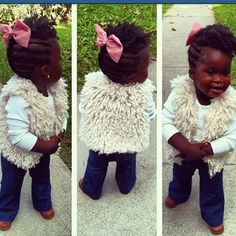 I just died and went to baby heaven! Good God I'm in love! so freaking adorable. Natural Hairstyles For Kids, Little Girl Hairstyles, Cute Hairstyles, Toddler Hairstyles, Black Hairstyles, Protective Hairstyles, Protective Styles, Hairstyle Ideas, Natural Hair Care Tips