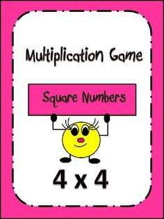 Multiplication Game: Square NumbersMastering multiplication facts is extremely important in helping a student become successful in math. Th...