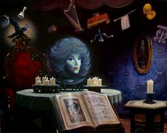 Madame Leota of the Haunted Mansion, by Yakovetic. I want this painting, if only!