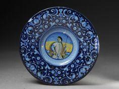 Plate - ca. 1540, Faenza, Italy - Tin-glazed earthenware