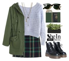 """#SheIn"" by credentovideos ❤ liked on Polyvore featuring Polo Ralph Lauren, Lux-Art Silks, Royce Leather and Ray-Ban"