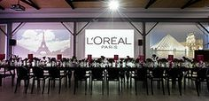 Valiant Hire Events Furniture by Valiant Hire ( Florence Tables, Ghost Chairs in Black) styled by Willett Marketing for L'Oreal www.valiant.com.au
