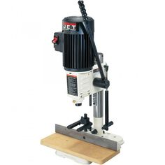 Jet® Benchtop Mortising Machine Placid Power Tools The Family Handyman Woodworking Power Tools, Woodworking Equipment, Rockler Woodworking, Woodworking Supplies, Popular Woodworking, Woodworking Videos, Woodworking Projects, Woodworking Shop, Woodworking Apron
