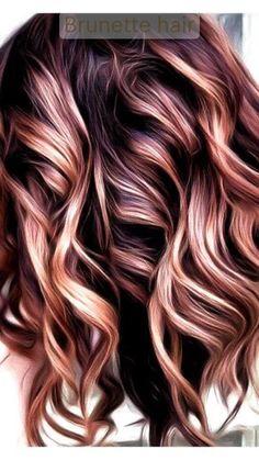 Gorgeous Hair Color, Cool Hair Color, Hair Color Tips, Hair Color Highlights, Hair Color Balayage, Fall Balayage, Caramel Highlights, Burgundy Hair Blonde Highlights, Haircolor