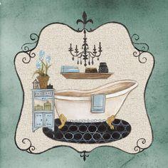 Arte com Encanto by Vastí Fernandes: Imagens Vintage para Banheiros e lavabos