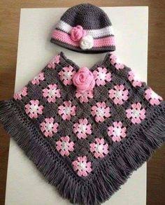 Crochet Baby Poncho Crochet Jacket Crochet Girls Crochet For Kids Girls Poncho Knitting Patterns Crochet Patterns Kids Outfits Crocheting Crochet Baby Poncho, Baby Girl Crochet, Crochet Baby Clothes, Crochet For Kids, Crochet Shawl, Crochet Stitches, Knit Crochet, Easy Crochet, Poncho Knitting Patterns