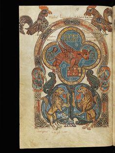 "St. Gallen, Stiftsarchiv (Abtei Pfäfers), Cod. Fab. 1, f. 94 – Évangélistaire  (""Liber viventium"")"