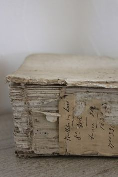 old book, peeling spine- oh the possibilities