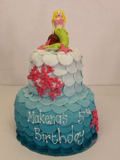 The perfect under water cake for your little mermaid - Belle's Patisserie