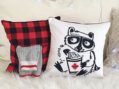 Smart pocket pillow by AniZetDesigns. made with love in Canada. Canada, Throw Pillows, Pocket, Handmade, Design, Toss Pillows, Hand Made, Cushions