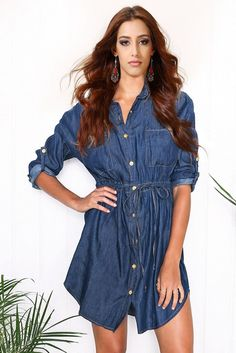 Casual Denim Mini Dress