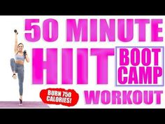 50 Minute HIIT Bootcamp Workout - YouTube