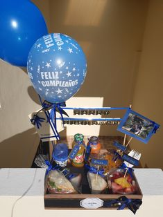 Desserts, Candy Gift Baskets, Happy Birthday, Blue Prints, Tailgate Desserts, Deserts, Postres, Dessert, Plated Desserts