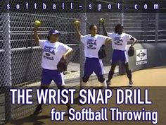 """We break down a """"Wrist Snap Drill"""" that can help you to make sure that the fielders are in the proper launching position when they're throwing the softball."""