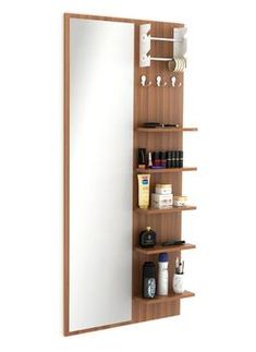 Wall Mounted Dressing Table, Dressing Table Design, Dressing Table With Stool, Simple Dressing Table, Dressing Table Shelves, Makeup Storage Table, Makeup Table Vanity, Makeup Tables, Cupboard Design