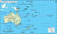 The digital map of Australia and Oceania shows the entire South Pacific region along with the continent and county of Australia. All the island nations are shown, along with their capital.The digital map is available in various editable and non - editable Vanuatu, Capital Des Pays, Les Nations Unies, Federated States Of Micronesia, Australia Map, Island Nations, Solomon Islands, Papua New Guinea, South Pacific