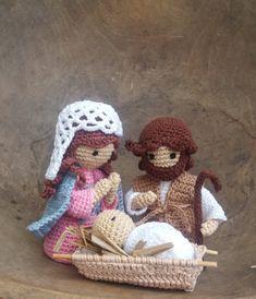 Crochet Crafts, Crochet Dolls, Knit Crochet, Christmas Angel Crafts, Christmas Decorations, Lalaloopsy, Winter Christmas, Nativity, Teddy Bear