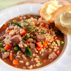 Rustic Beef and Barley Soup