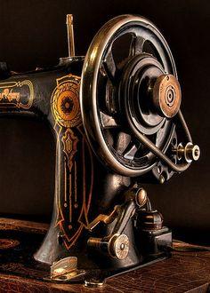 #vintage - Detail of antique sewing machine