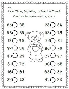 This is easy worksheets for students that will help them learn. They have a whole bunch of different activities for the different subjects. This one has to do with the greater and lesser sign. All the student has to do is fill in the symbol and tell what sign they should use.