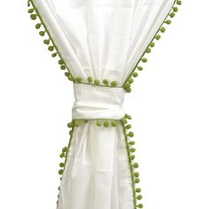 Pompom Curtain in Green