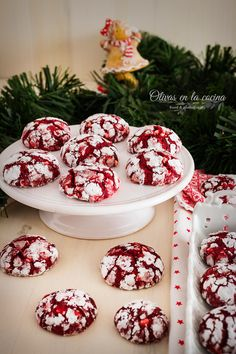 Xmas Cookies, Cupcake Cookies, Yummy World, Torta Baby Shower, Cookie Recipes, Dessert Recipes, Red Velvet Cookies, Pastel Red, Cookie House