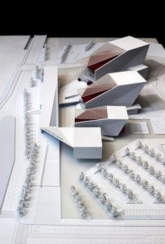 Aerial view of the proposed Sejong Art Center (Image: H Architecture & Haeahn Architecture), architectural model