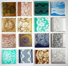 Lace Tiles | 30 DIY Lace Projects