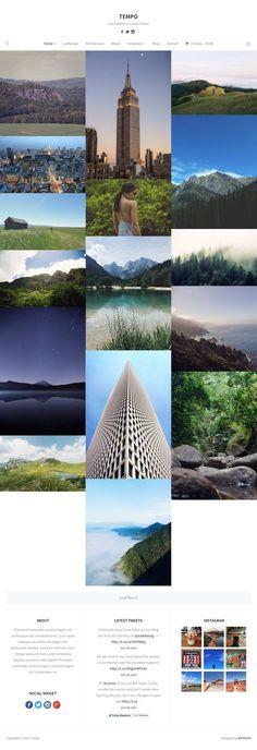 Tempo WordPress Grid Layout Photography Theme - www.wpchats.com