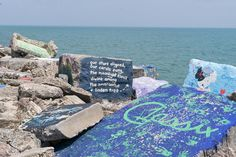 It's a tradition to paint the rocks alomng the lake at Northwestern University Guide, Northwestern University, Best Hotels, The Rock, Touring, Beach Mat, Rocks, Outdoor Blanket, College