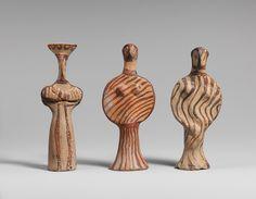 Three female figures, ca. 1400–1300 b.c.; Late Helladic IIIA  Mycenaean #GISSLER #interiordesign