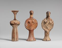 Three female figures, ca. 1400–1300 b.c.; Late Helladic IIIA  Mycenaean