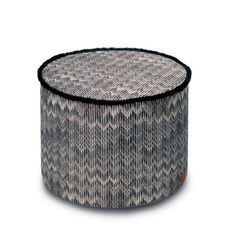 THAILAND #164R POUF - MISSONI HOME at Spence & Lyda #ottomans #spenceandlyda #missonihome #australia #sydney #cotton