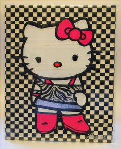 Color Duct Tape Painting of Hello Kitty  by LivingColored, $25.00