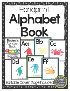 Teaching the alphabet while creating a keepsake…yes, please! Use this Handprint Alphabet Book to help your learners learn their letters. Simply edit the cover page for each child and print the letter pages on cardstock. Every week, or as you introduce the letters, create a new page for their book by following the examples below! …