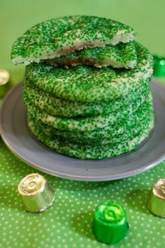 St. Patrick's Day Pot of Gold Cookies. Kids will love the green color and the surprise treasure in the middle!
