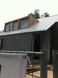 Modern take on the traditional Mansard - good use of zinc for the roof and contrasting timber-clad Mansard with dark black walls below. Loft Dormer, Dormer Roof, Dormer Bungalow, Shed Dormer, Dormer Windows, Windows And Doors, Bungalow Extensions, House Extensions, Bungalow Conversion