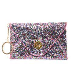 Multi Glitter Envelope Wallet #uniquevintage