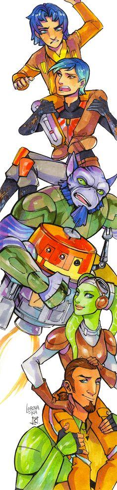 Rebels ...SWR Ghost Crew by lorna-ka.deviantart.com on @DeviantArt ...