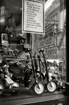 """Window display for Christmas sale. Providence, Rhode Island."" (December 1940)"