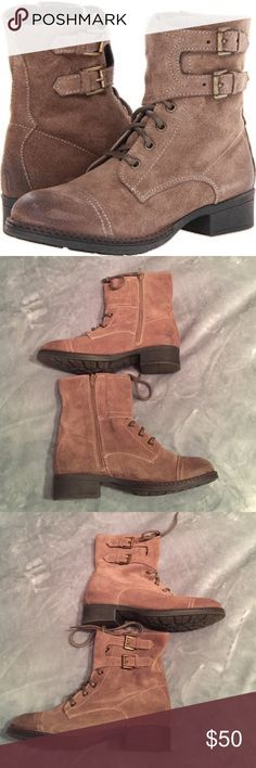 Seychelles tan suede boots with buckles Brand new condition worn once Seychelles Shoes Ankle Boots & Booties