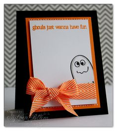 ...{Sylvias Stamping Place}...: CAS-ual Fridays Stamps: October Sneak Peek #1 - Halloween Cards
